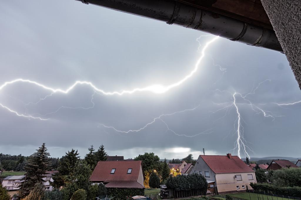 Gewitter über Großwechsungen
